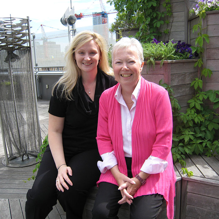 Colleen O'Neill with Valerie Bowering
