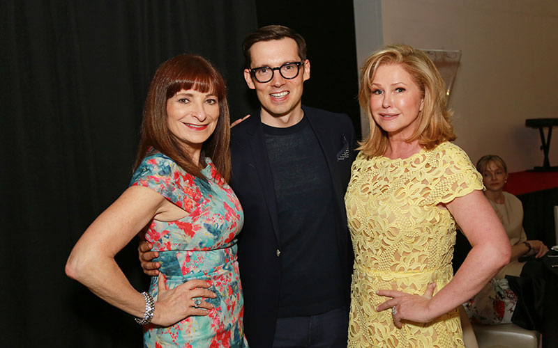 Jeanne Beker, Erdem Moralioglu and Kathy Hilton