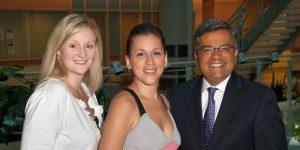 Valerie Bowering, Elana Waldman and Dr. Amit Oza.